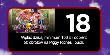 Royal Panda: 50 free spinów na Piggy Riches Touch